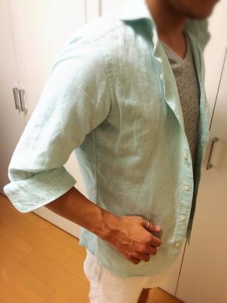 シャツのまくり方① イタリア人は夏でも長袖?