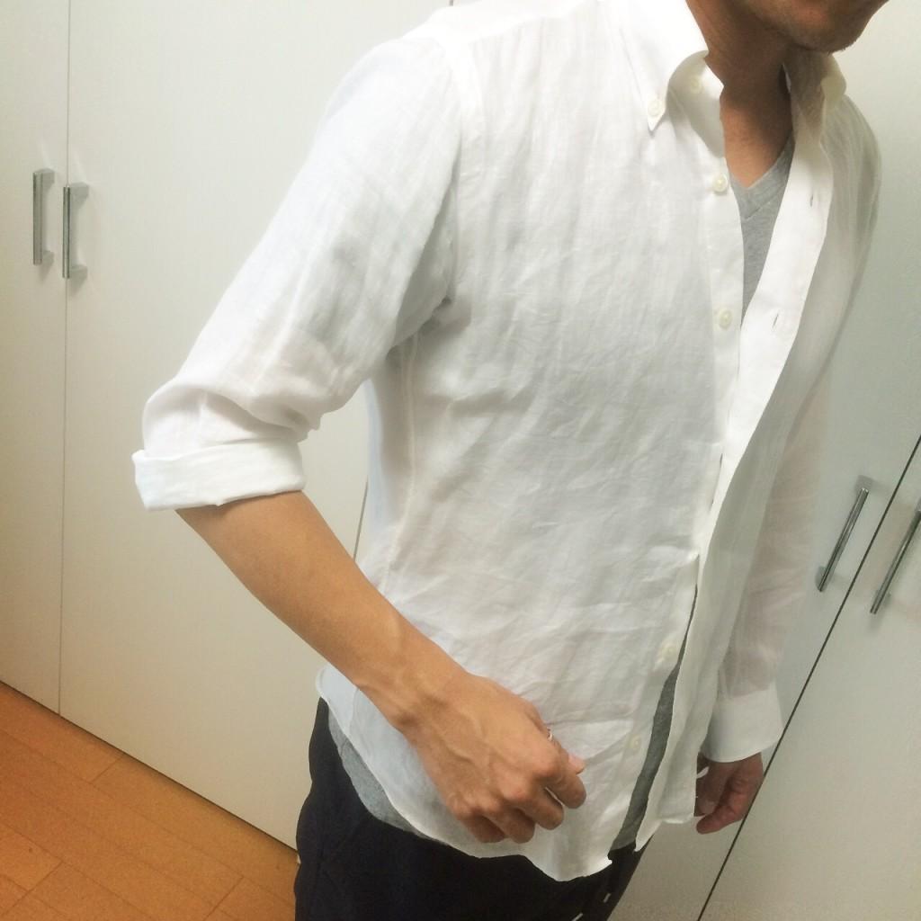 シャツのまくり方 Yシャツ