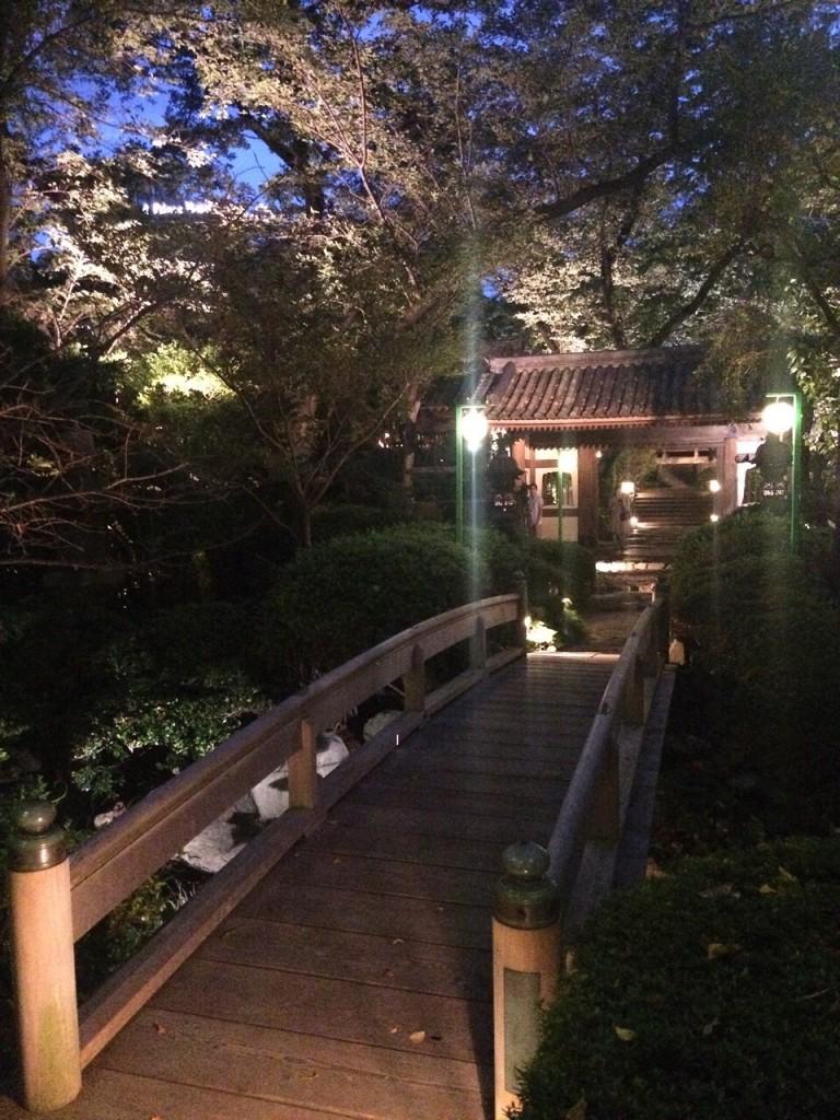 プロジェクションマッピング 高輪花火大会 グランド プリンス ホテル 日本庭園
