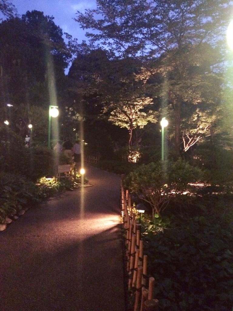 プロジェクションマッピング 高輪花火大会 グランド プリンス ホテル 日本庭園 お祭り