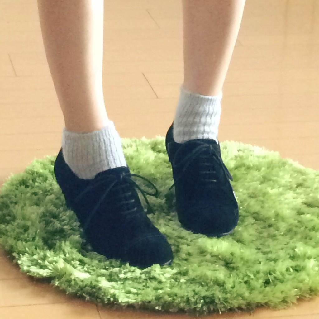 17℃ 靴下 コーデ グレー モヘア ブーティー ブーツ おしゃれ 人気 可愛い