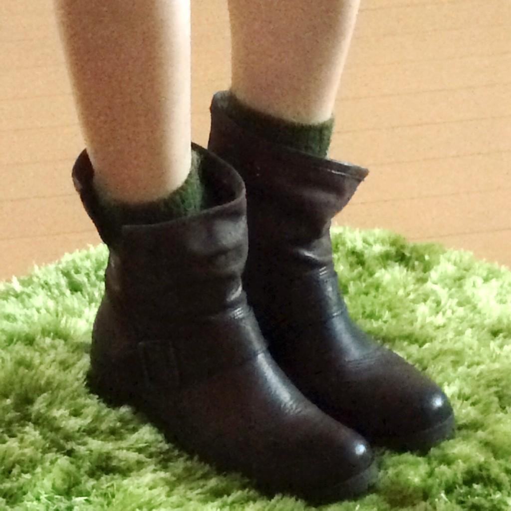 17℃ 靴下 コーデ グリーン 抹茶  モヘア ブーティー ブーツ おしゃれ 人気 可愛い