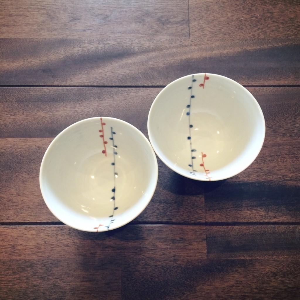 九谷青窯 飯碗 ご飯茶碗 和食器 人気 夫婦茶碗 ペア 白 朱入り蕾 食器 おすすめ お皿 女性用
