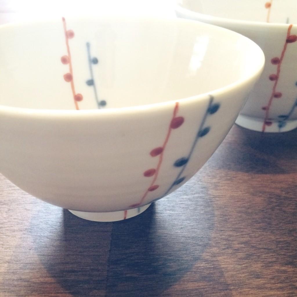 九谷青窯 飯碗 ご飯茶碗 和食器 人気 夫婦茶碗 ペア 白 朱入り蕾 食器 おすすめ